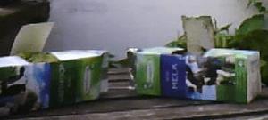 composteren met een melkpak
