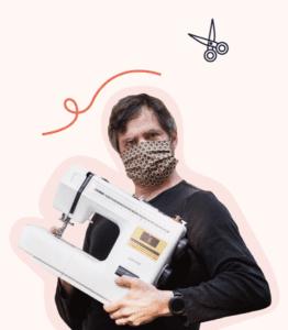 mondmasker maken met de naaimachine