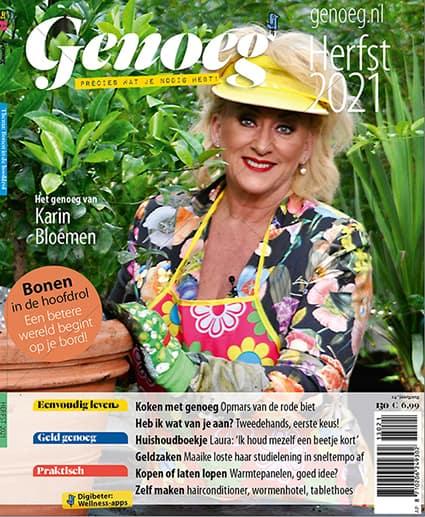 Cover Genoeg 130 met Karin Bloemen