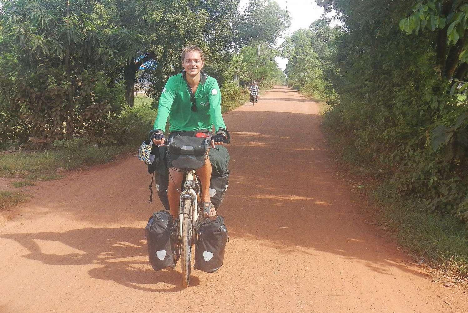 Tieme op de fiets naar India