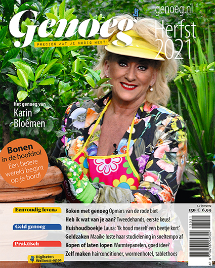Cover magazine Genoeg herfst 2021 - Karin Bloemen